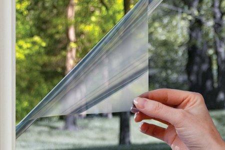 Установка солнцезащитных-зеркальных пленок